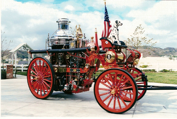 Hubert 1902 Steam Fire Engine with Blaze