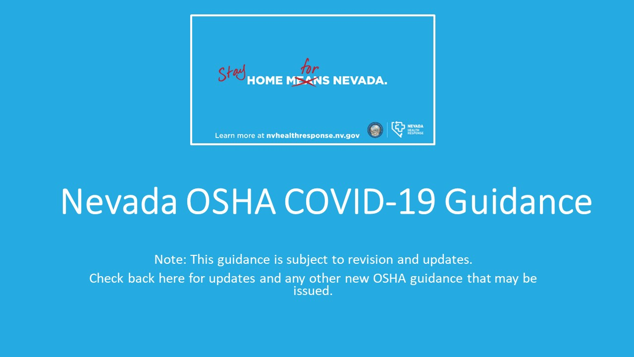Nevada OSHA Covid-19 Guidance